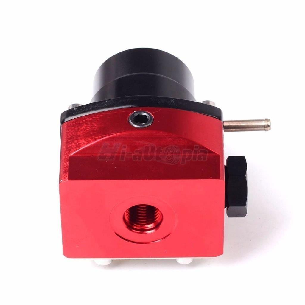 adjustable universal fuel pressure regulator kit with 100psi gauge an6 red black ebay. Black Bedroom Furniture Sets. Home Design Ideas