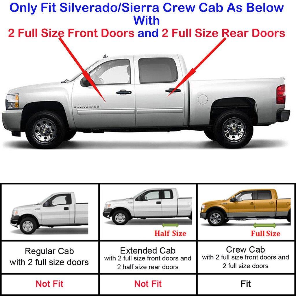 "Fit 01-13 Silverado/Sierra Crew Cab (4 Full Door) 5"" Oval"