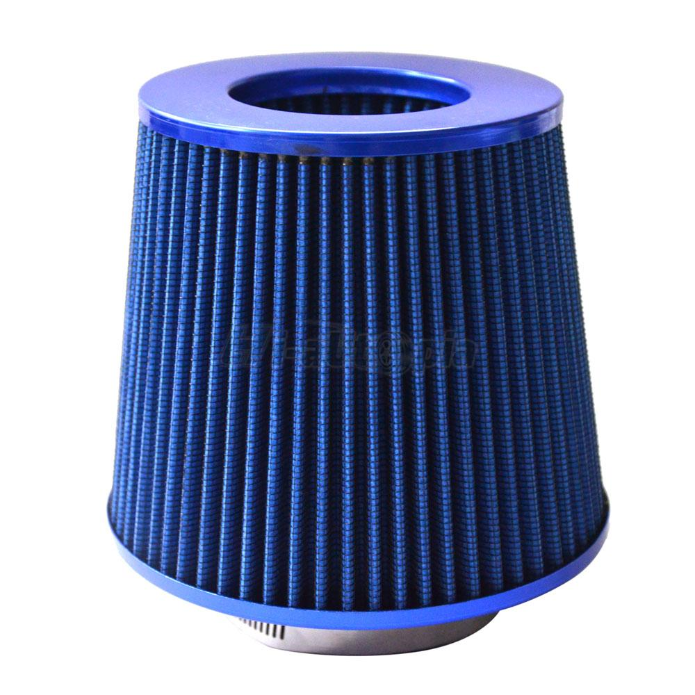 4/'/' INCH INLET HIGH FLOW SHORT RAM//COLD INTAKE ROUND CONE MESH AIR FILTER