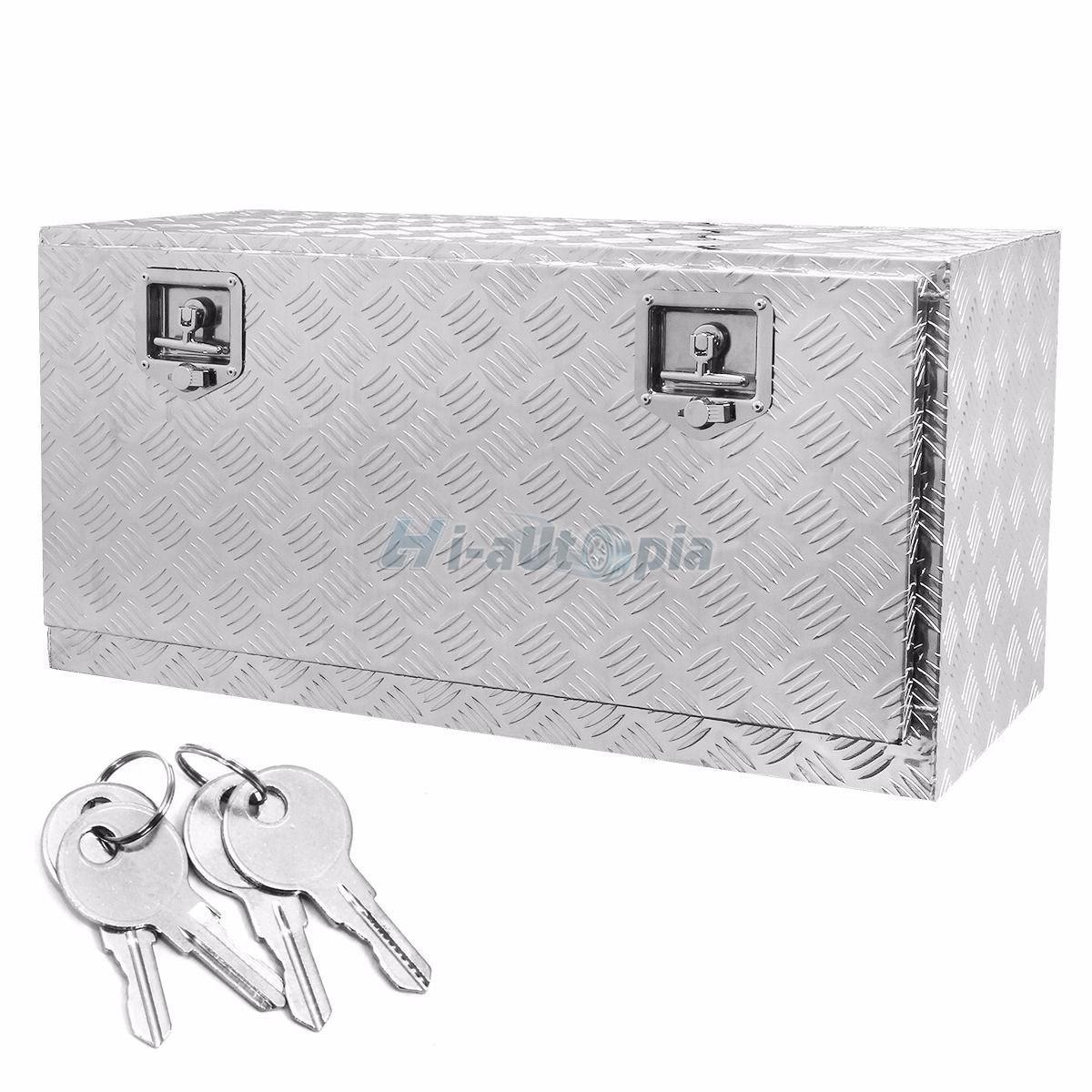 new 36 u0026quot  aluminum underbody tool box truck storage toolbox w  lock 5 bar silver