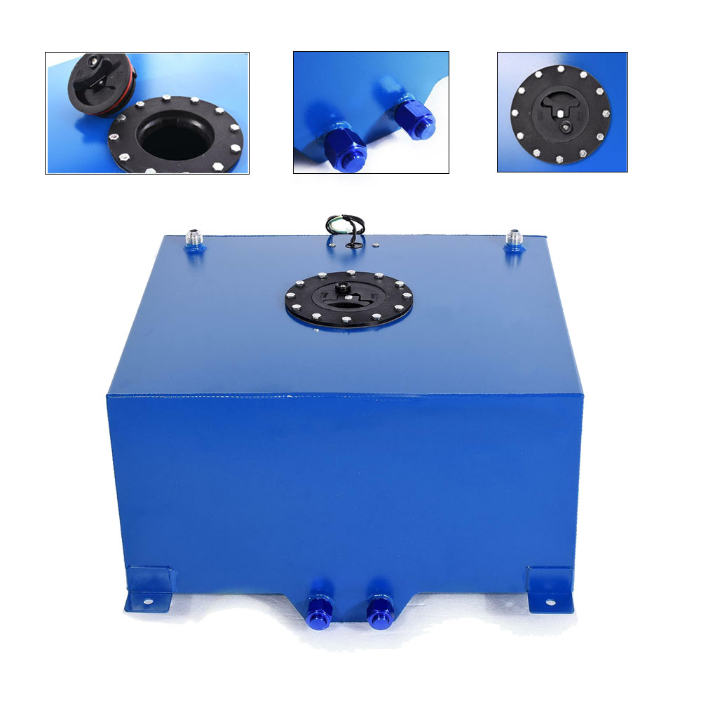 Details about 8 Gallon Aluminum Racing Drift Fuel Cell Tank Level Level  Gauge Sender Blue