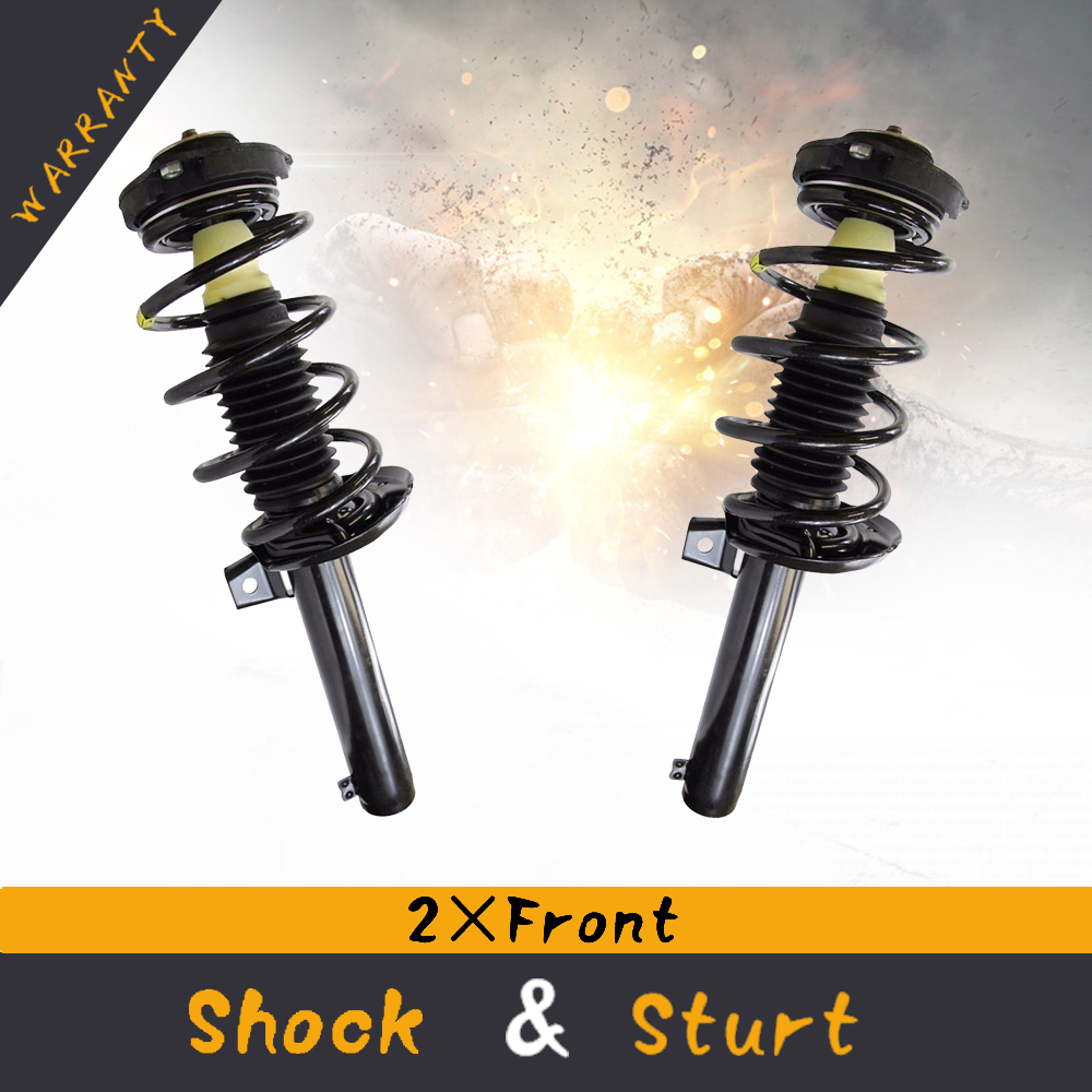 Pair Front Strut Spring Assembly For VW Jetta GTI Passat Rabbit CC Eos