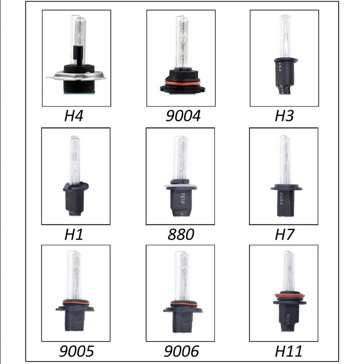 55w hid xenon headlight conversion kit bulbs h1 h3 h4 h7