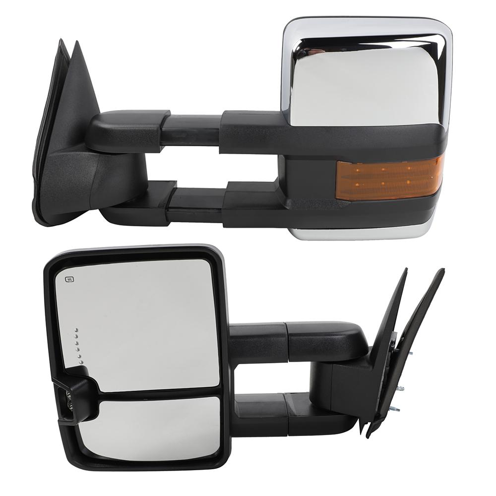 2500 2000-2002 New Set of 2 LH /& RH Power Door Mirror for GMC Yukon XL 1500
